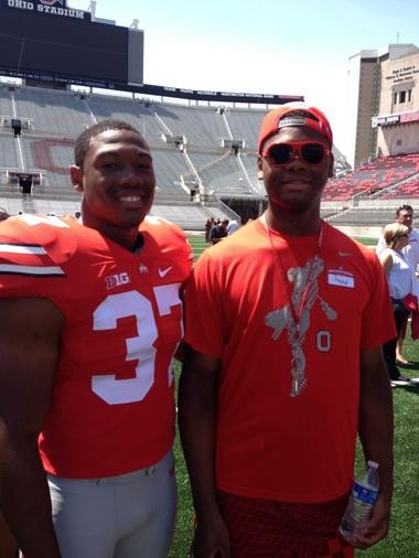 Joshua and Jahred Perry at Ohio Stadium. Jahred also is a OSU student and works as a manager for the lacrosse team.