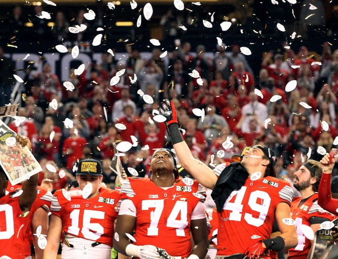 Hubbard, then No. 49, got to travel to the national championship, but never played last year while Meyer held off burning his redshirt.