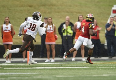 Maryland junior William Likely (4) has two punt return touchdowns this season.