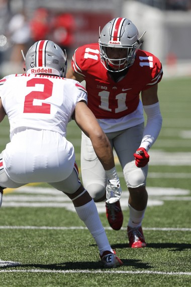 Ohio State's Austin Mack (11) is the most complete receiver prospect to sign with the Buckeyes since Michael Thomas.