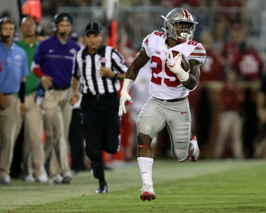 Ohio State and running back Mike Weber has 495 rushing yards through the first four games of the season.