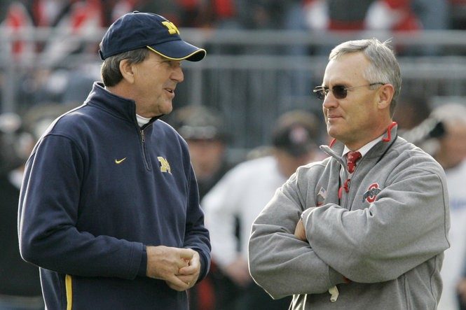 Michigan's Lloyd Carr and Ohio State's Jim Tressel had the Big Ten on top of the college football world on Nov. 18, 2006, but it wouldn't last.