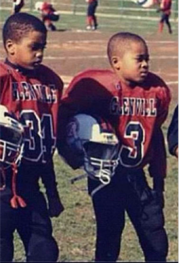 Ohio State's Chris Worley, left, and Marshon Lattimore playing together in Cleveland's Muny League when they were kids.