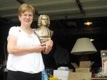 A $5 bust of Johann Sebastian Bach stood out at Arlene Berishâs garage sale in Parma last week.
