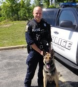 Patrolman Nicholas Schuld and K-9 officer Coney will now be partners in fighting crime in Parma.