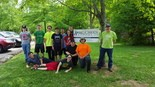 Parma hockey team members volunteered for the Big Creek Connects clean-up June 4.
