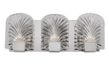 The ferns portrayed on the Marcy lighting fixtures from Hudson Valley Lighting curve backwards and create a wonderful wash of light.