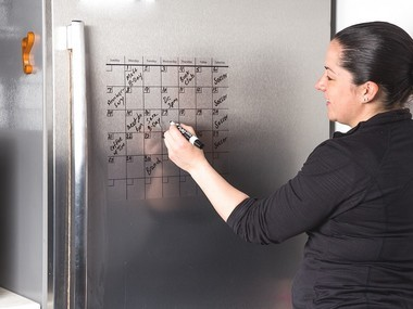 Think Boards attach to most smooth surfaces and are a great way for families to communicate.