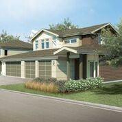 A rendering of a duplex townhouse to be built at Cedar and Brainard roads in Pepper Pike.