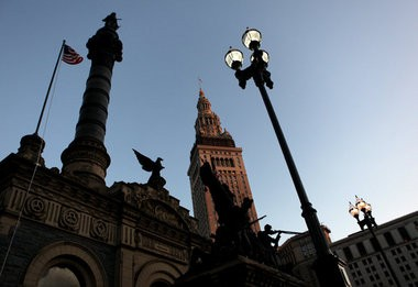 The Terminal Tower, owned by Forest City Enterprises, and the Soldiers and Sailors Monument July 9, 2009. (Tracy Boulian/The Plain Dealer)