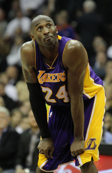 Kobe Bryant is shown here in the final moments of a game against the Cleveland Cavaliers at Quicken Loans Arena on Tuesday, Dec. 11, 2012. Comments the Los Angeles Lakers star made about the Trayvon Martin case in an interview have put him in the middle of a social media firestorm. (Lisa DeJong/The Plain Dealer)