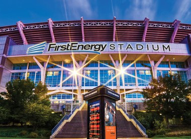 Renderings from FirstEnergy Corp. of Browns Stadium. FirstEnergy Corp.has bought the naming rights of the stadium and team owner Jimmy Haslam encountered no resistance to the deal. .