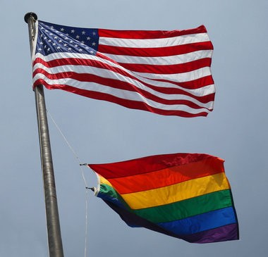 The City of Cleveland raised a rainbow pride flag under the Stars and Stripes on June 26, 2013 to celebrate the Supreme Court rulings in a pair of victories for the gay rights movement. A constitutional amendment to overturn Ohio's ban on same-sex marriages is being proposed for the November ballot.