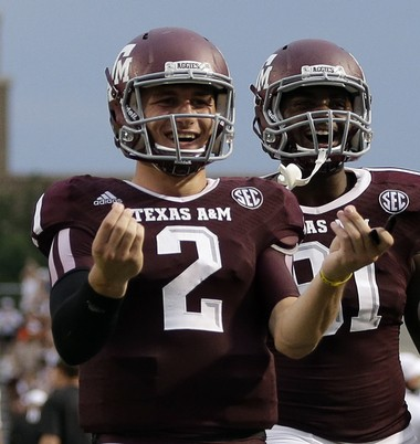 Texas A&M quarterback Johnny Manziel completed 48 percent of his passes of at least 25 yards, a very impressive stat.