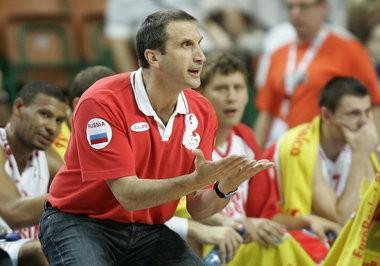 David Blatt coaching the Russian National Team.