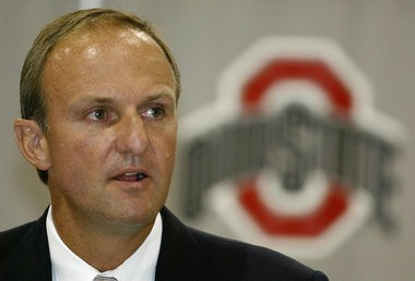 Thad Matta at the news conference announcing his hiring at Ohio State on July 9, 2004.