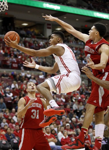 Freshman D'Angelo Russell recorded only the fourth triple-double in Ohio State history in the Buckeyes' 79-60 win over Rutgers on Sunday.