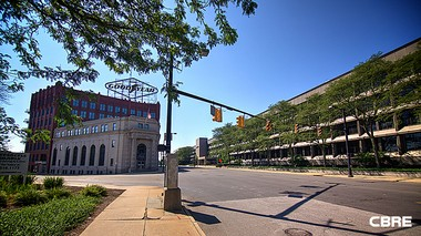 The former Goodyear Tire & Rubber Co. campus in Akron also sought a catalytic tax credit award, though developer Industrial Realty Group didn't ask for the full $25 million from the state.