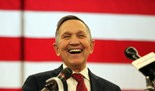 Dennis Kucinich announces his candidacy for governor of Ohio at a rally in Middleburg Heights.