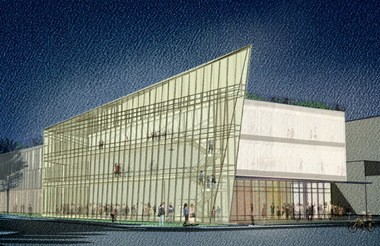Rendering of proposed Center for Innovation in Health Professions at Cleveland State University.