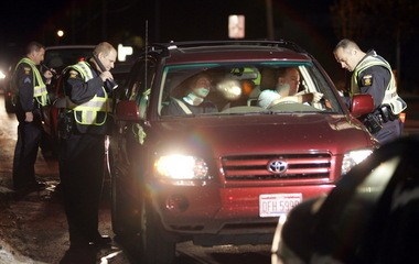 Police officers check for violations during a DUI checkpoint An Ohio Supreme Court ruling has entrenched the Intoxilyzer 8000 as a tool to test for breath-alcohol content.