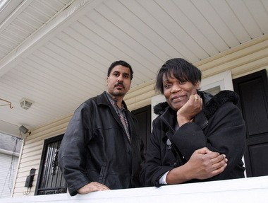 Mark Cox and his wife Kim Kelly are glad to have finally purchased their home in Cleveland Glenville neighborhood after having rented it for 15 years.