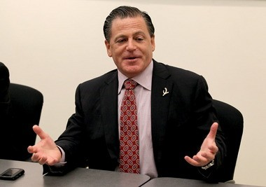 Horseshoe Casino Cleveland owner Dan Gilbert meets with Plain Dealer editors several days before the opening of the Horseshoe last May.