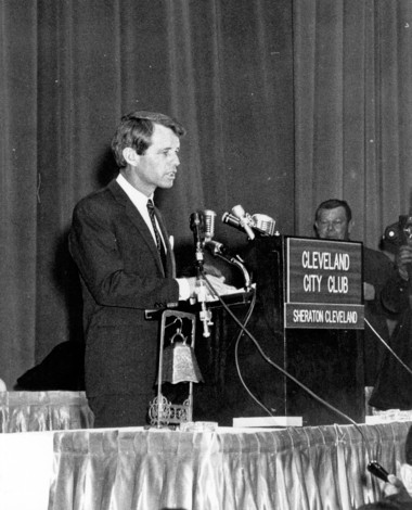 Sen. Robert F. Kennedy planned to talk politics at the City Club on April 5, 1968. But he put his presidential aspirations aside and spoke about violence and the death of the Rev. Martin Luther King Jr. in Memphis just hours before.