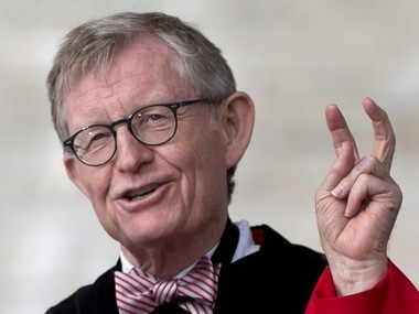 Ohio State University President E. Gordon Gee speaks at commencement in May.