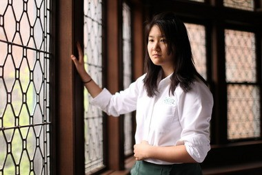 Lisa Peng, 16, traveled to Washington, D.C. this week to push for the release of prisoners of conscience in China, including her father, Peng Ming.