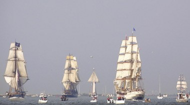 The Lake Erie horizon will be filled with sails, such as this scene from 2010, for the Port of Cleveland 2013 Tall Ships Festival. Lonnie Timmons III, The Plain Dealer