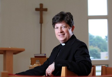 """The Rev. Elizabeth Eaton, 58, of Ashtabula, recently elected as the first presiding bishop of the Evangelical Lutheran Church in America, believes the church needs to reach out beyond the Garrison Keillor """"Lake Wobegon jello and green-bean casserole caricature"""" to a younger and more diverse audience."""