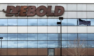 Diebold Inc.'s headquarters is in Green, south of Akron.