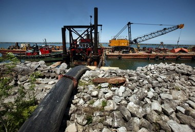 For the past 40 years, dredged sediment from the bottom of Cleveland Harbor shipping channels has been disposed of in man-made dikes near Burke Lakefront Airport. Now the Army Corps of Engineers wants to dump the sludge directly into Lake Erie.