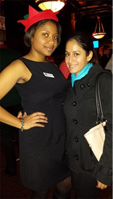 Young professional groups that are either associated with a nonprofit or are independent often use social events such as happy hour and galas to raise money. Leia Bradford, left, and Gina Peterson belong to the Cleveland Professional 20/30 Club. They are shown here at December's Stuff the Stocking fundraiser.