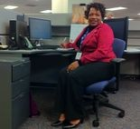 Cheryl Williams works with United Way's 2-1-1 line. The program received a $50,000 grant from Saint Luke's Foundation.