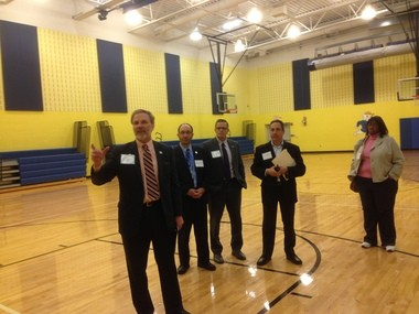 Patrick Zohn, chief operating officer of the Cleveland schools, talks about how the large gyms at new schools like George Washington Carver let districts offer more gym classes.