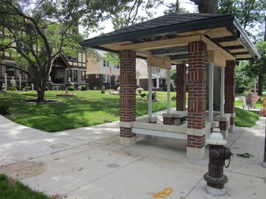 New brick, pitched-roof stations, 19 in all, along Clifton Boulevard are designed to blend with the historic character of the avenue.