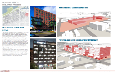 How the Gordon Square master plan envisions how the old Max Hayes high school property could be used for both retail and new residences. Click on the image to enlarge it. SOURCE: Gordon Square Community Master Plan.