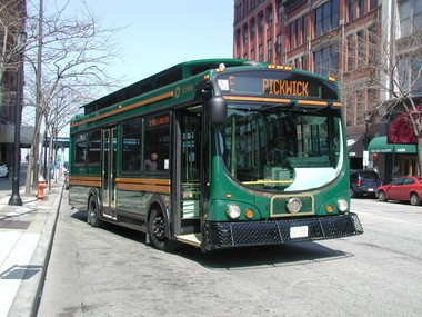One of the older 30-foot trolleys.