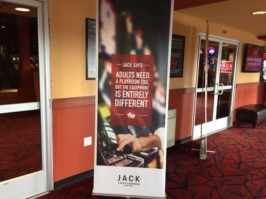 "Gamblers entering the renamed Jack ThistleDown Racino are greeted by this saying from ""Jack."""