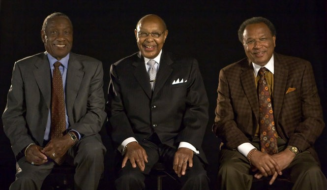 Left to right, Arnold Pinkney, Carl Stokes and George Forbes on June 23, 2008 in the Plain Dealer photo studio.