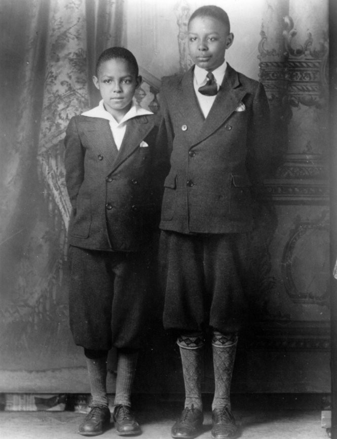Nine-year-old Carl B. Stokes and Louis Stokes, 11, in a family photo For story on Carl Stokes. these are Plain Dealer file photos. Photo by Photo taken