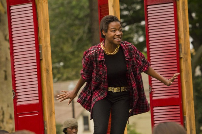 """Shajuana Gaston, now a freshman at Cleveland State University, performs in """"Now the City Dreams."""""""