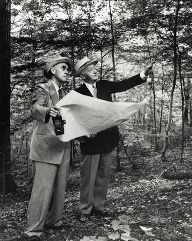 William Stinchcomb (left) is the man behind the inception of Cleveland Metroparks. (Photo courtesy Cleveland Metroparks)