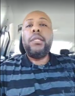 This Facebook Live video still shows Steve Stephens, who is accused of broadcasting himself shooting and killing a man Sunday afternoon.