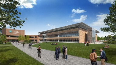 A rendering of the Western Campus STEM Center.