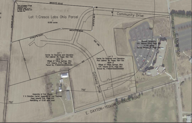 Map of Cresco Labs Ohio's proposed site in its application