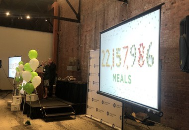 The Greater Cleveland Food Bank presented the results of the annual Harvest for Hunger Campaign Tuesday morning. This year the drive raised enough food and funds to provide more than 22 million meals.