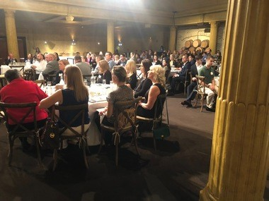 """The room at the unveiling of Engage! Cleveland's """"State of the Young Professionals"""" report."""